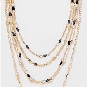 Maurices layered choker necklace with black beads